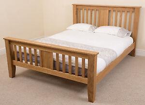 Details About Solid Oak Bed Frame King Size Boston Wooden Bedstead Bedroom Furniture