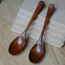 Vintage Wooden Spoon Bamboo Kitchen Cooking Utensil Tool Soup Teaspoon Catering
