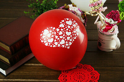 "Lots Romantic Heart Love Helium 12"" Balloons Wedding Birthday Party Decor Ballon"