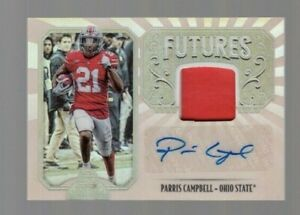 Parris-Campbell-2019-Panini-Legacy-Futures-Autograph-amp-Player-Worn-Jersey-Ohio