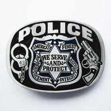 NEW POLICE LAW ENFORCEMENT COP JUSTICE AMERICA PROTECT GUN BELT BUCKLE