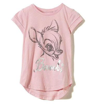 Cotton on Disney Baby Toddler Girl Bambi pastel dots glitter print Tee t-shirt