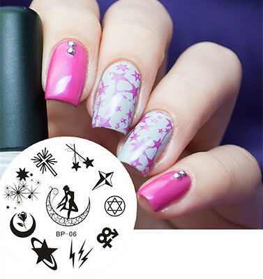 Nail Art Stamping Plate Sailor Moon Image Stamp Template  #06 BORN PRETTY