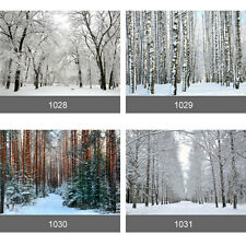 Winter Tree Snow Scenery Forest Wall Mural Photo Wallpaper Self Adhesive