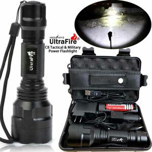150000LM-Tactical-Military-T6-LED-Flashlight-Torch-Work-Light-Camp-Headlamp-Box