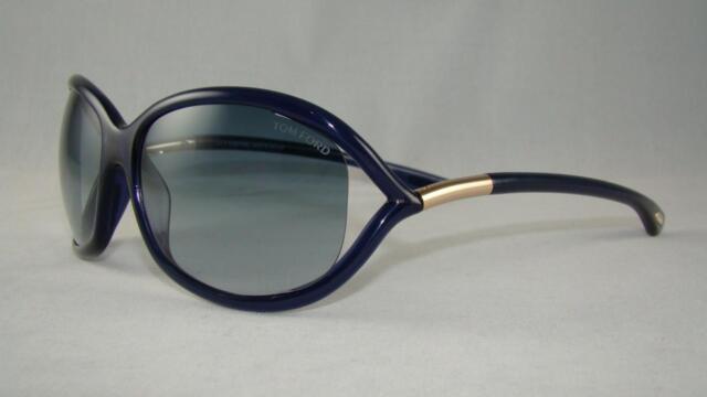 3834091bec2d Tom Ford Jennifer TF8 90W TRANSPARENT BLUE Gradient Sunglasses TF0008 Size  61