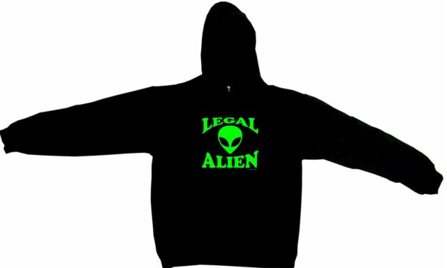 Legal Alien Men's Hoodie Sweat Shirt Pick Size Small-5XL