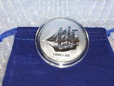 2020 1 oz Fine Silver .9999 British Valiant Coin with Capsule /& Velvet Pouch