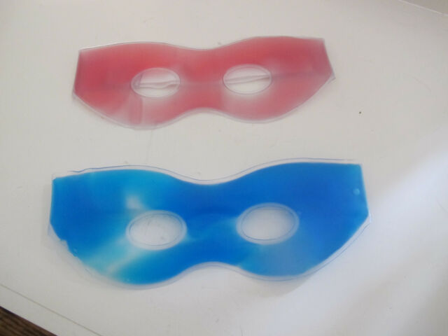 Gel Eye Mask. Use Hot or Cold. Blue or Red. New