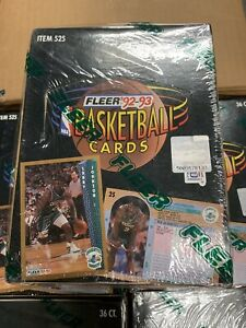 1992-93-Fleer-Series-1-Basketball-Box-Factory-Sealed-36pc-Michael-Jordan-Inserts