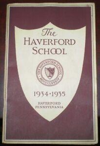 THE-HAVERFORD-SCHOOL-ANNUAL-CATALOG-1934-1935-PENNSYLVANIA-ILLUSTRATED