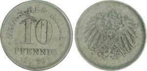 Empire 10 Pfennig J.298 1916 Lack Coinage Vf-Xf Without Randperlen