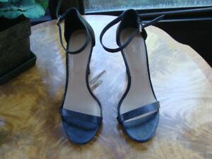 59d08304902 Image is loading ALDO-Black-Ankle-Strap-Women-039-s-Sandal-