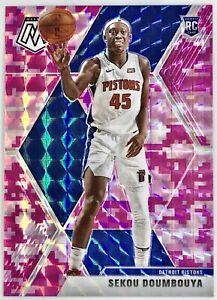 2019-20 Panini Mosaic Sekou Doumbouya Prizm Pink Camo Rookie RC Detroit Pistons