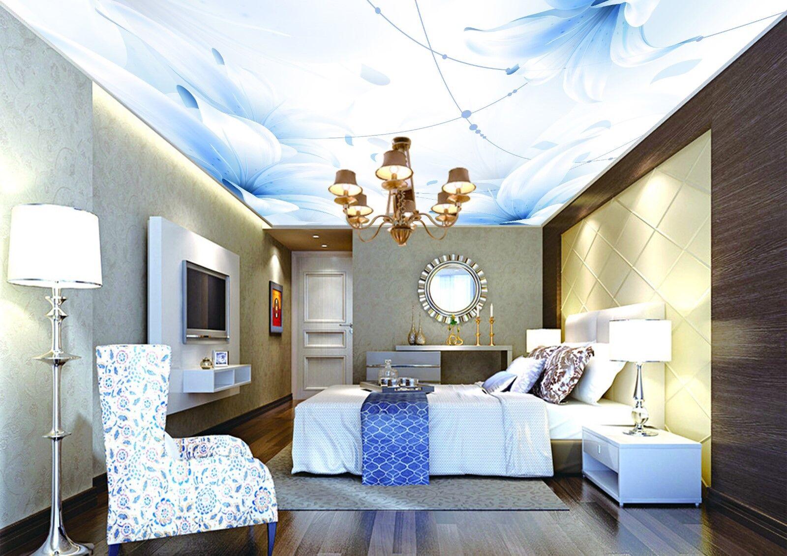 3D bluee Lilie 733  Fototapeten Wandbild Fototapete BildTapete Familie DE Kyra