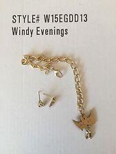Windy Evenings JEWELRY ~ Tonner Evangeline Ghastly - gold bat belt skull earring