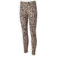 Jerry Leigh Juniors Cheetah Leggings Fashion Pants In Tan/brown/black Size S