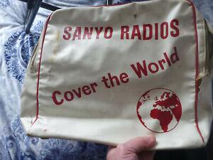 Vintage-Sanyo-Transister-Radio-bag-advertising-Clarkson-tulip-flight-1969