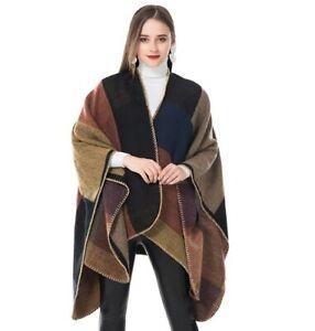 Cashmere-Scarf-Women-039-s-Ponchos-Blanket-Shawl-Oversized-Vintage-Female-Wraps-2