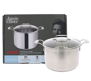 Tefal-Jamie-Oliver-24cm-Stainless-Steel-Stewpot-With-Lid-Non-Stick-Stockpot-24cm