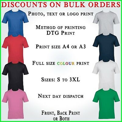 PERSONALISED T SHIRT STAG DO HEN PARTY YOUR TEXT PHOTO FUNNY BIRTHDAY PARTY