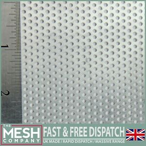 2mm Stainless Steel 2mm Hole x 3.5mm Pitch x 1mm Thick Perforated Mesh Sheet