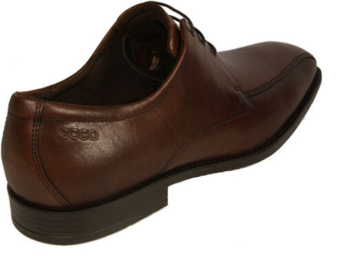 ECCO Schuhe Business Modell EDINBURGH Braun Leder Schnürschuhe Gummisohle NEU