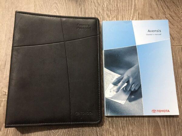 #24 Toyota Avensis Proprietari Manuale Manuale Cartella Libro Pack Mk1 T220 2000-2003 Beneficiale Per Lo Sperma
