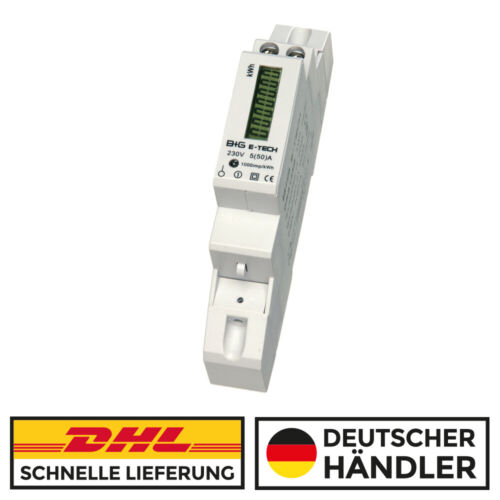 a for DIN Top Hat Rail Return Lock Electricity Meter Alternating current meter s0 LCD 5 50