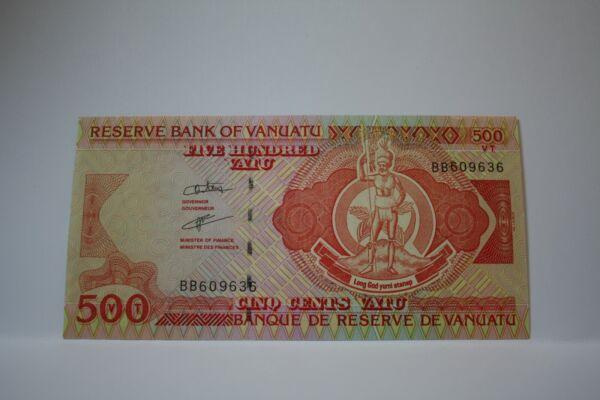 Banknote Billet Vanuatu 500 Vatu Série Bb Non Circulé