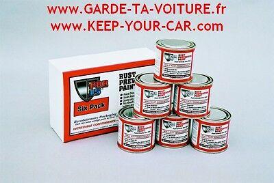 POR15 rust preventive paint sixpack black (6x113 ml) noir satiné