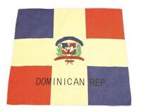 Dominican Republic Bandana Head Wrap Flag Sign Latino Spanish Santo Domingo