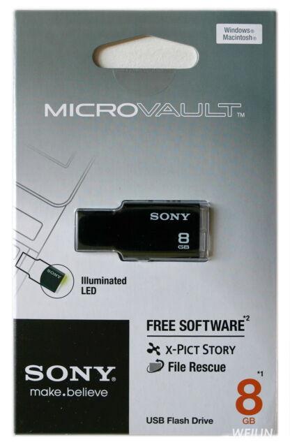 SONY 8 GB USB 2.0 Micro Vault Tiny USB Flash Drive KEY 8G Black White Pink Green