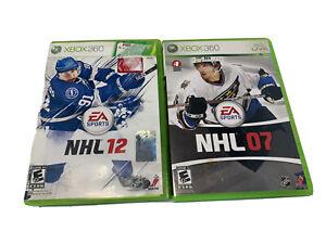 Lot of NHL Xbox 360 EA Sports NHL 2007 2012 Hockey Games