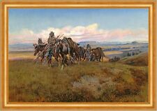 In the Enemys Country Charles M. Russell Indianer Pferde Feindesland B A3 01092