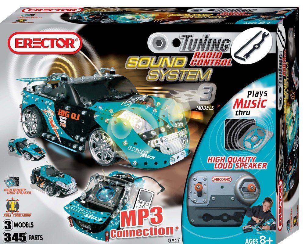 Erector licht und ton - fahrzeug - blau 3 modell neue