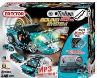 Erector Light And Sound Tuner Vehicle Kit Blue 3 Model Set