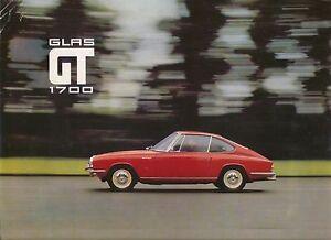 glas 1700 gt coupe 1966 67 original uk market sales. Black Bedroom Furniture Sets. Home Design Ideas