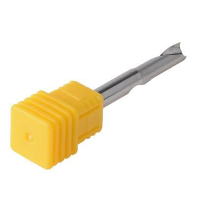 2Pcs 6x17mm Single Flute Milling Cutters For Aluminum CNC Tools Solid Carbide