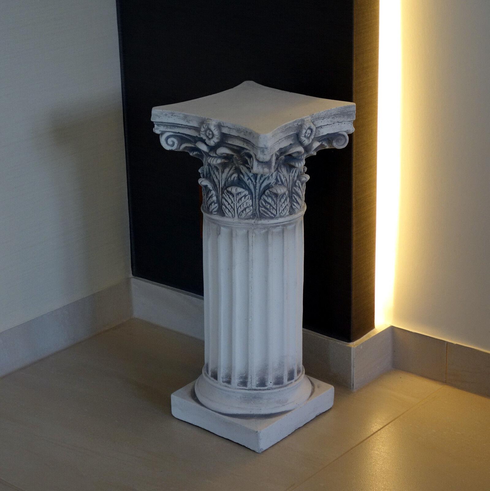 Piedra maciza de zócalo descansillo pilar motivo hojas raumdeko gartendeko piedra colada