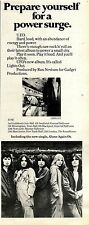 21/5/1977Pg37 Album & Tour Advert, Electric Light Orchestra, Lights Out