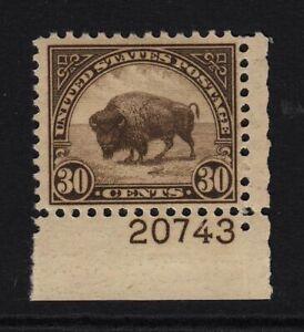 1931-American-Buffalo-MH-Sc-700-RARE-plate-number-Hebert-CV-50