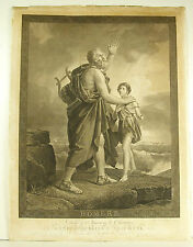 Homère The Blind Homer Af François Gérard sc Massard Neoclassical Engraving 1816