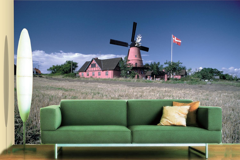 3D Windmill Field 728 Wallpaper Mural Paper Wall Print Wallpaper Murals UK Lemon