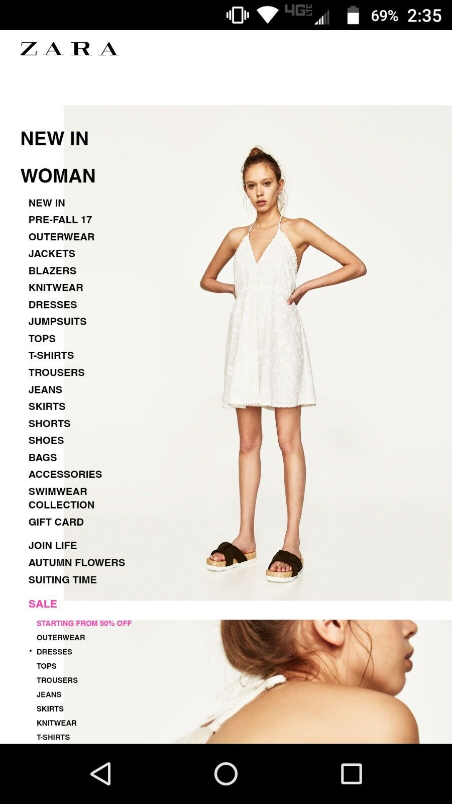ZARA  dress New with tag EMBROIDERED MINI HALTER DRESS ( register price 69.90)