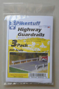 3-HO-Highway-Guard-Rail-Kit-HO-1-87-SCALE-LAYOUT-DIORAMA-Pikestuff-12