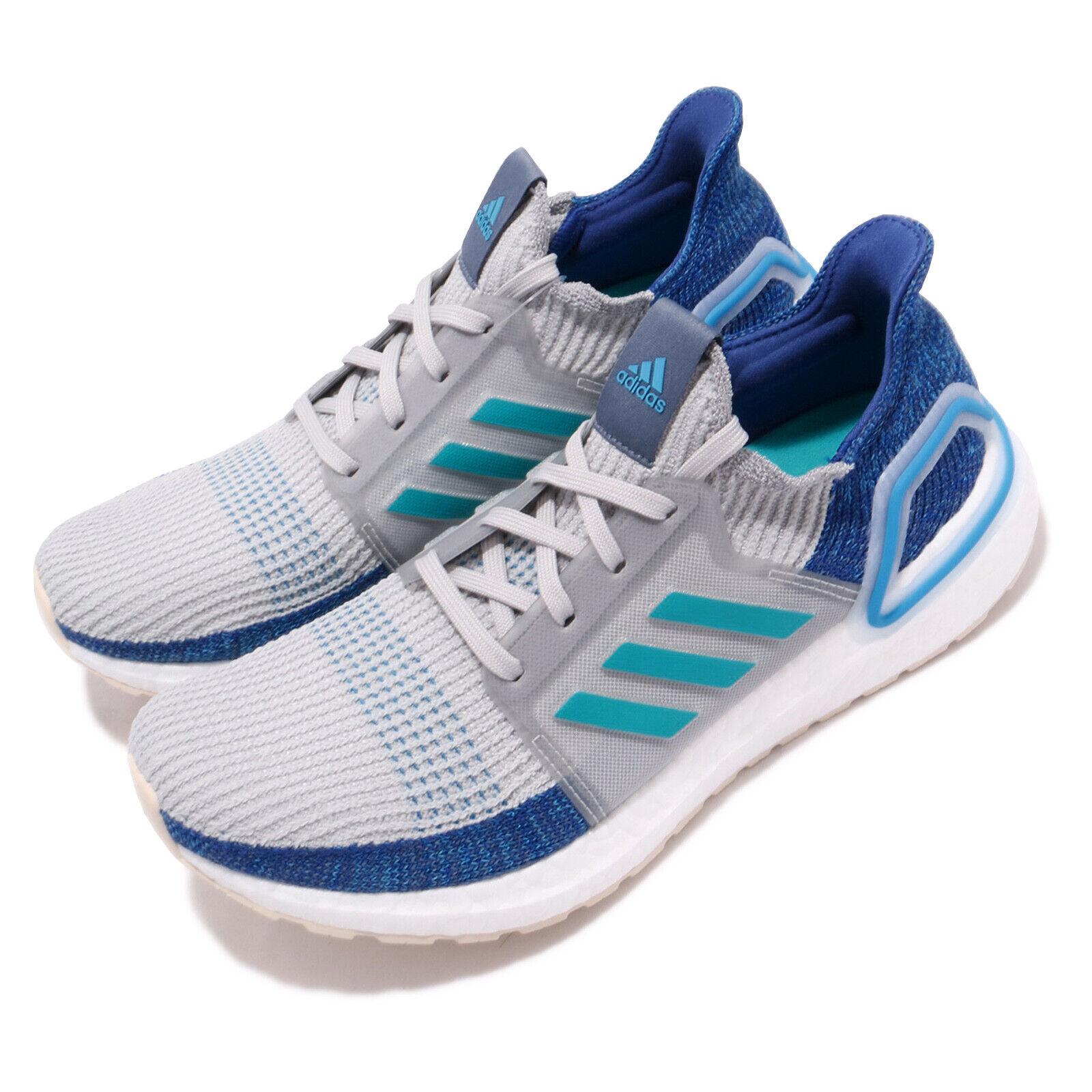 Adidas UltraBOOST 19 gris Shock Cyan bleu Men Running chaussures baskets F35240