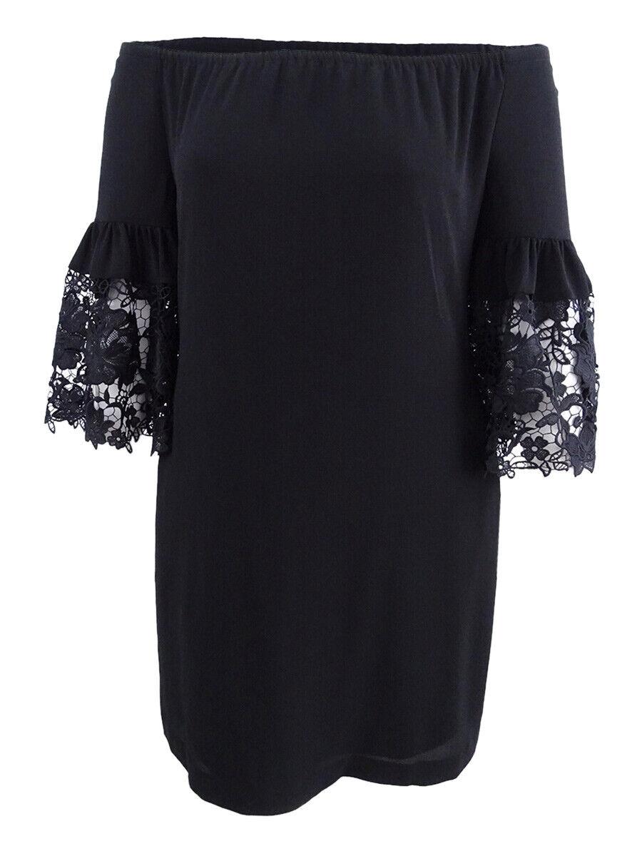 Lauren by Ralph Lauren Women's Bell-Sleeve Crepe Dress
