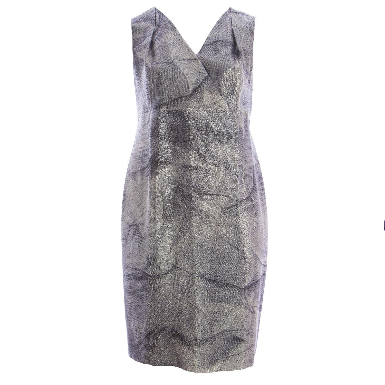 MARINA RINALDI Mujer  Multi dollaro Impreso Vestido Escote en V  1105 Nuevo con etiquetas  a la venta
