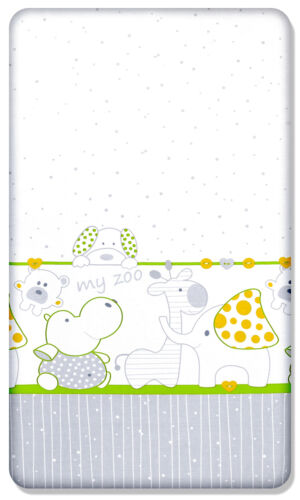100/% Cotton Lenzuolo con Angoli Elasticizzati Stampato Design per Bebè Lettino